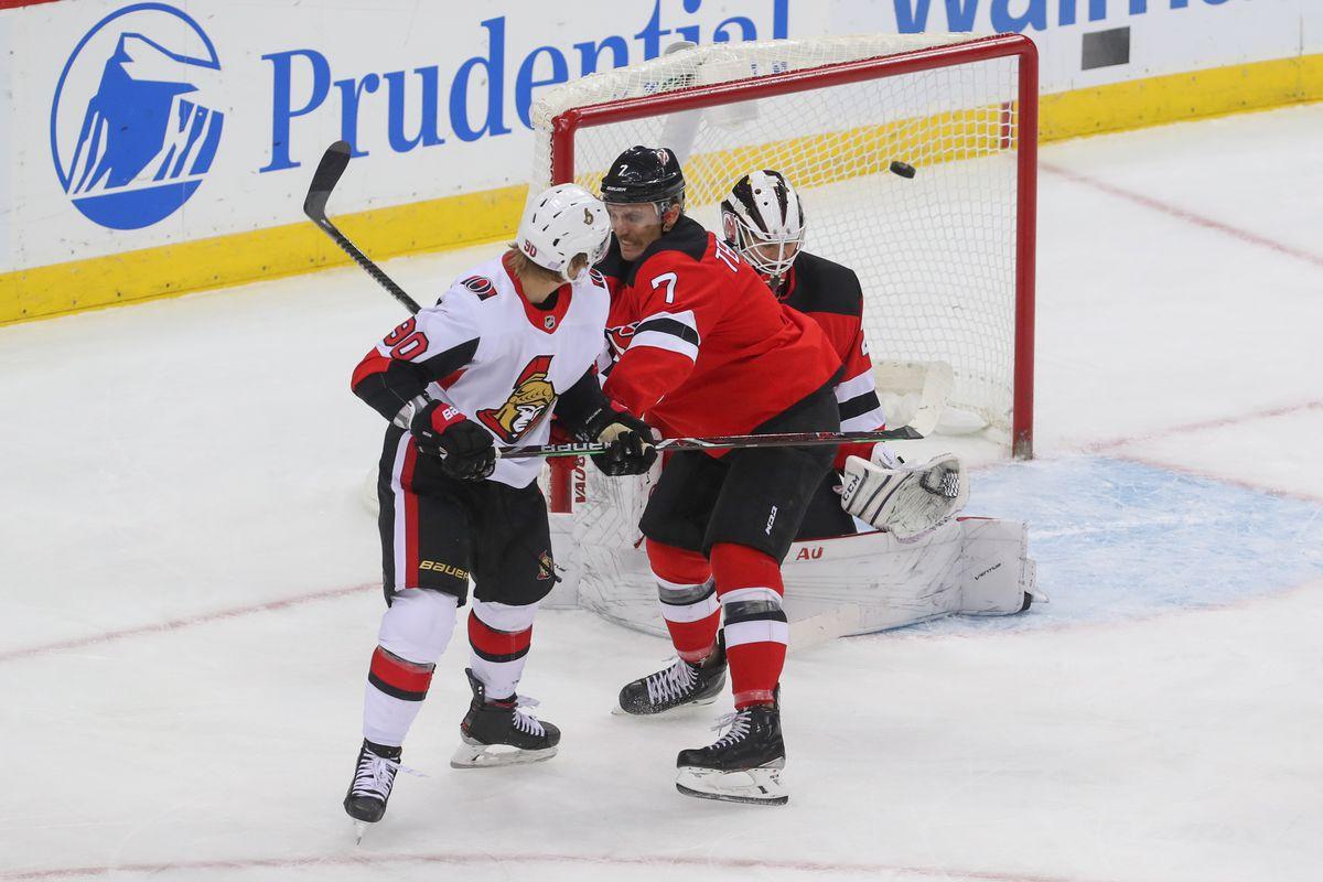 NHL: Ottawa Senators at New Jersey Devils