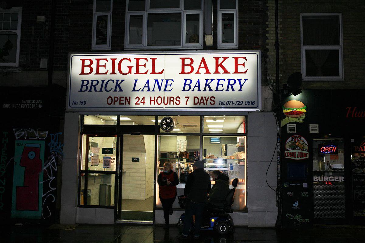 Beigel Bake in Brick Lane, one of London's best 24-hour restaurants, open during the coronavirus lockdown in London