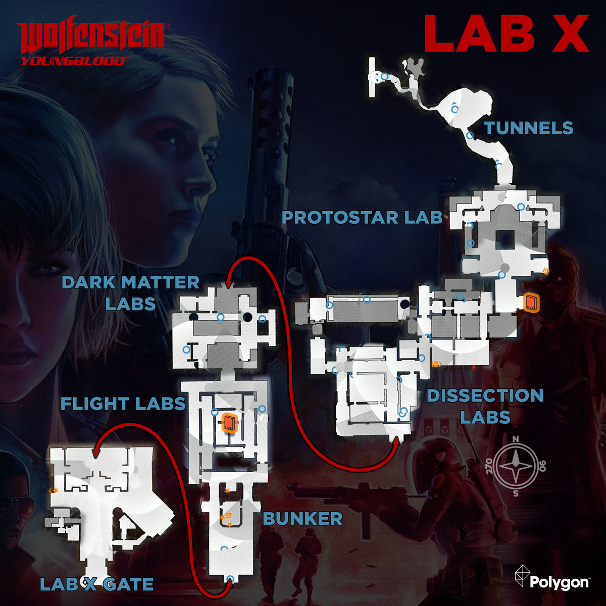 Wolfenstein: Youngblood Lab X UVK Cover collectibles map