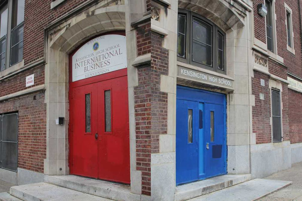 Exterior of Kensington High School.