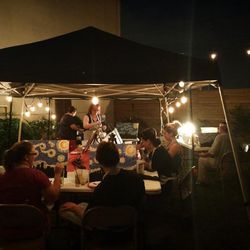 """6.) <a href=""""http://nola.eater.com/tags/treo"""">Treo's courtyard</a>, where you'll find an art market this Friday, May 23, from 6 to 11 p.m. [Photo: <a href=""""https://www.facebook.com/treonola/photos/pb.201058610035366.-2207520000.1400774080./401882716619620"""