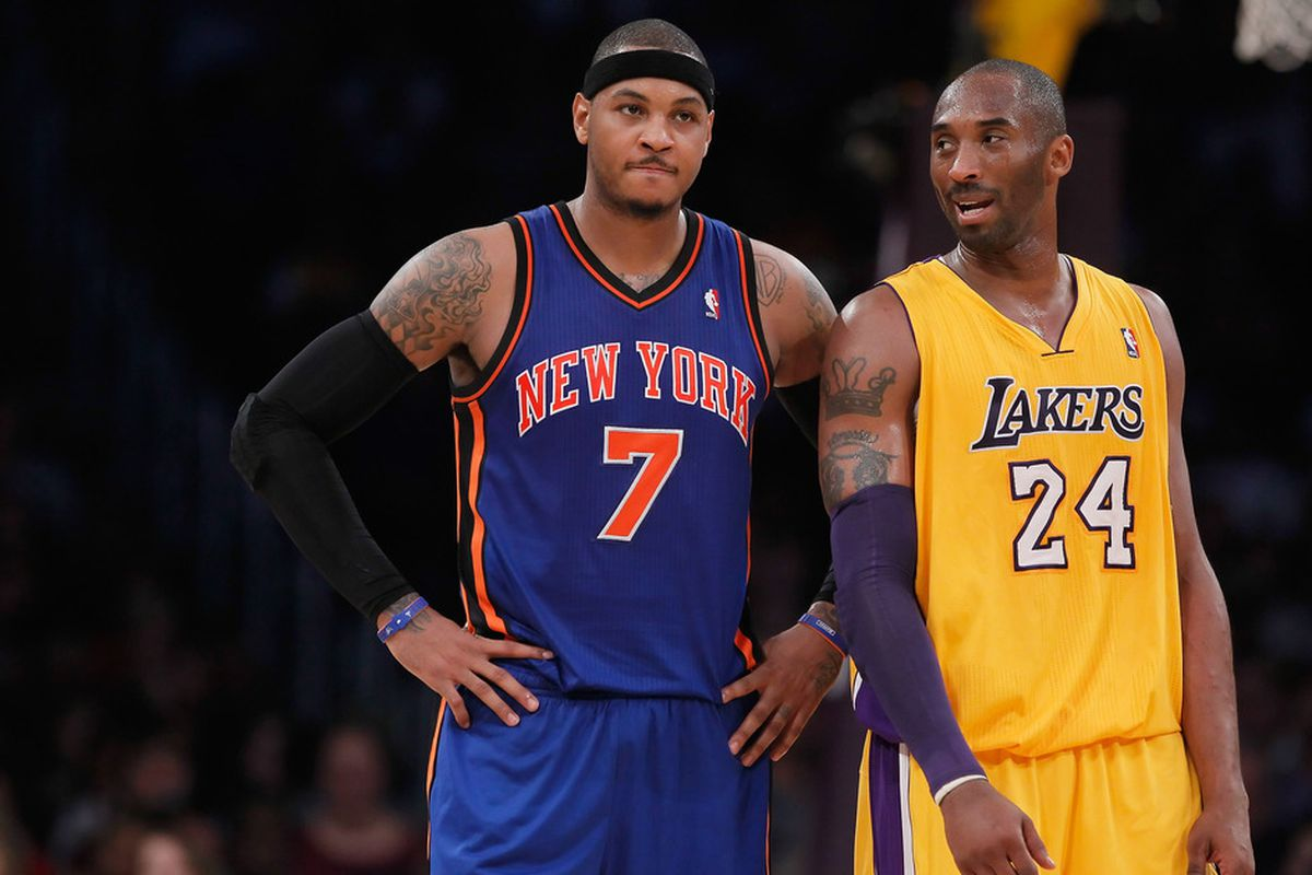 Carmelo Anthony and Kobe Bryant both had supportive things to say about gay athletes