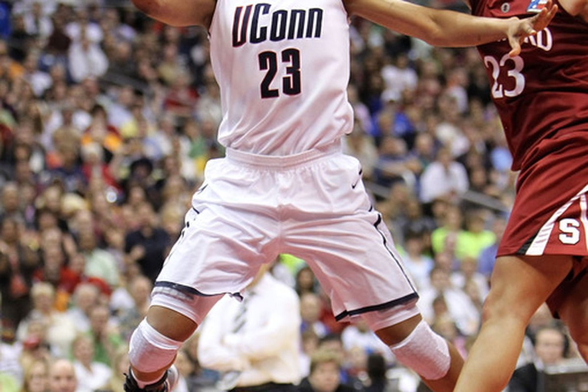 Maya Moore glides to the basket in UConn's win against Stanford in the 2010 title game.