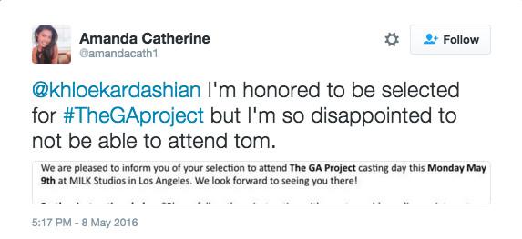 The GA Project Tweet