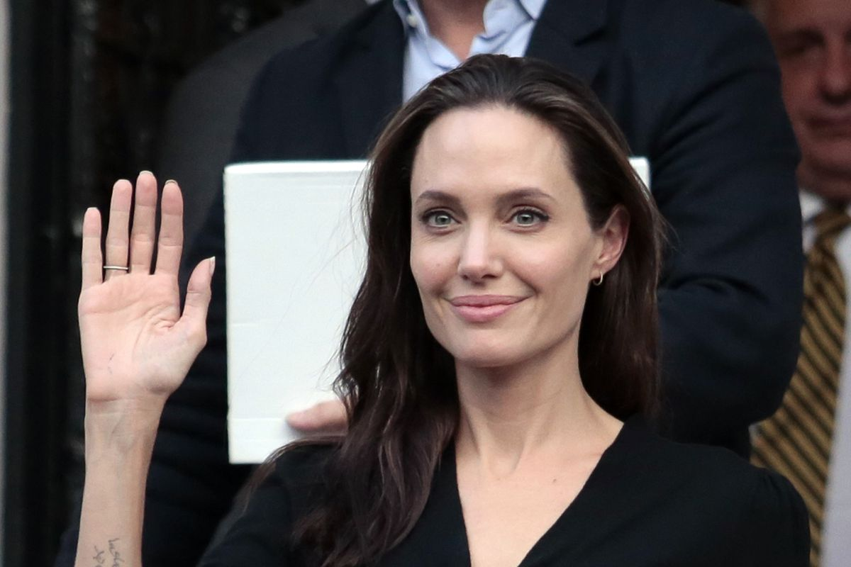 Angelina Jolie Visits The Refugee Reception Area At The Port Of Piraeus