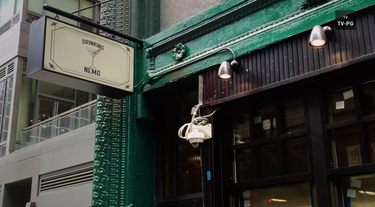 Exterior of a bar called Drinking Nemo