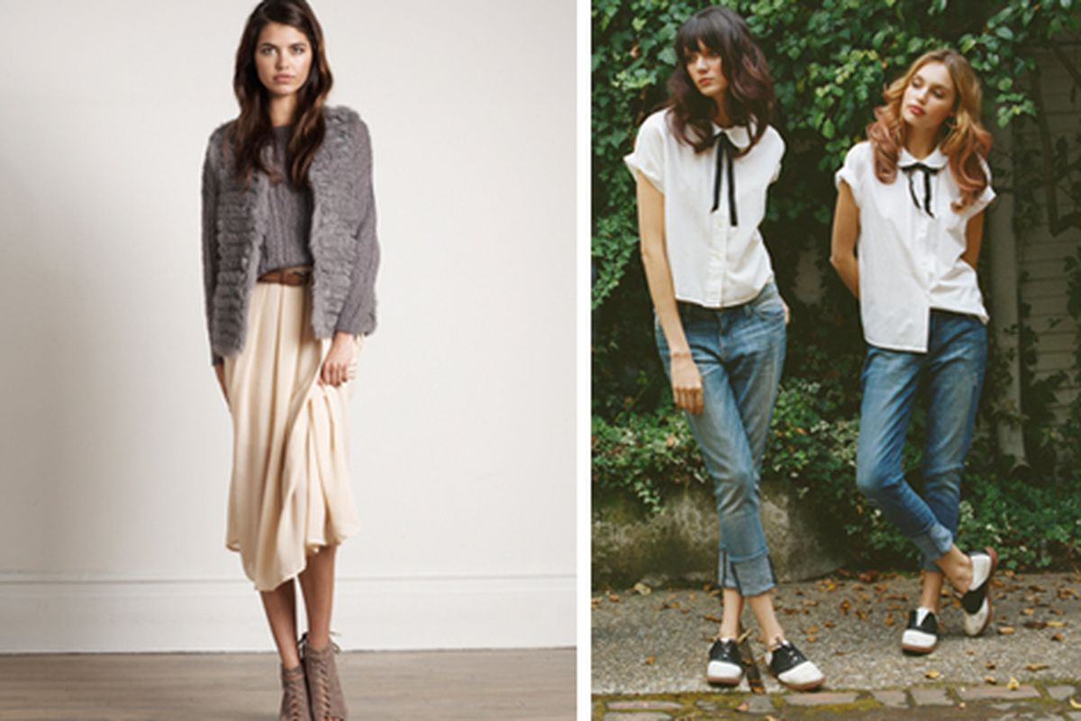 Pieces from Joie (left) and Current/Elliott (right) at this week's sale