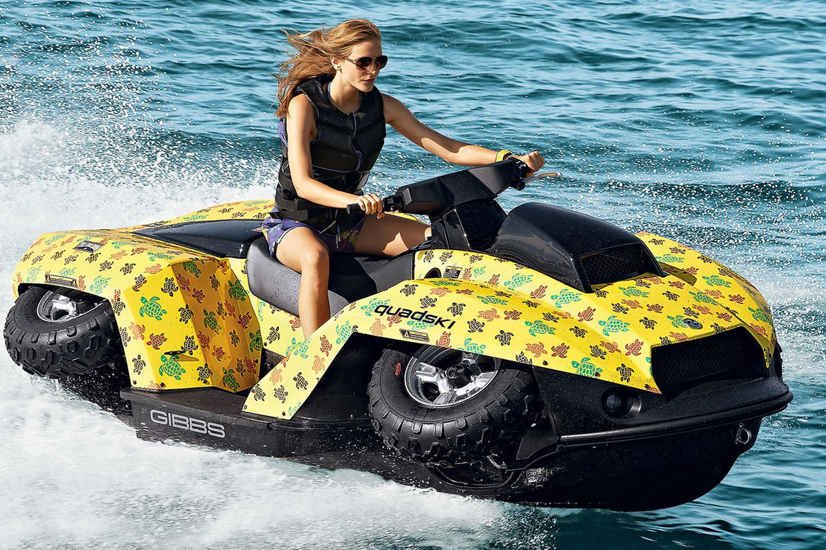 """Image via Neiman Marcus. This year's Christmas Book includes $50,000 his-and-hers Vilbrequin Quadskis that """"convert from water cruisers to land lovers in just under five seconds."""""""