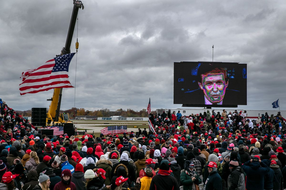 President Trump Holds Campaign Rally In Michigan Ahead Of Tuesday's Election