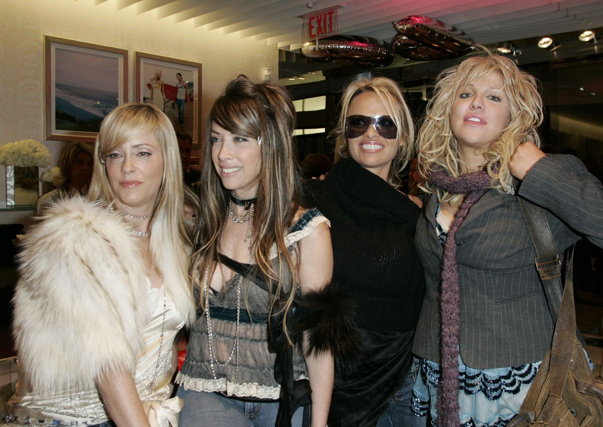 Pam & Gela with Pamela Anderson and Courtney Love