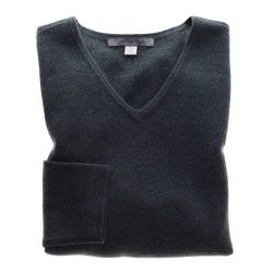 """""""V-neck cashmere sweater: Very breathable, lightweight and warm fabric.  Takes up virtually no room, and again, can be dressed up or down."""""""