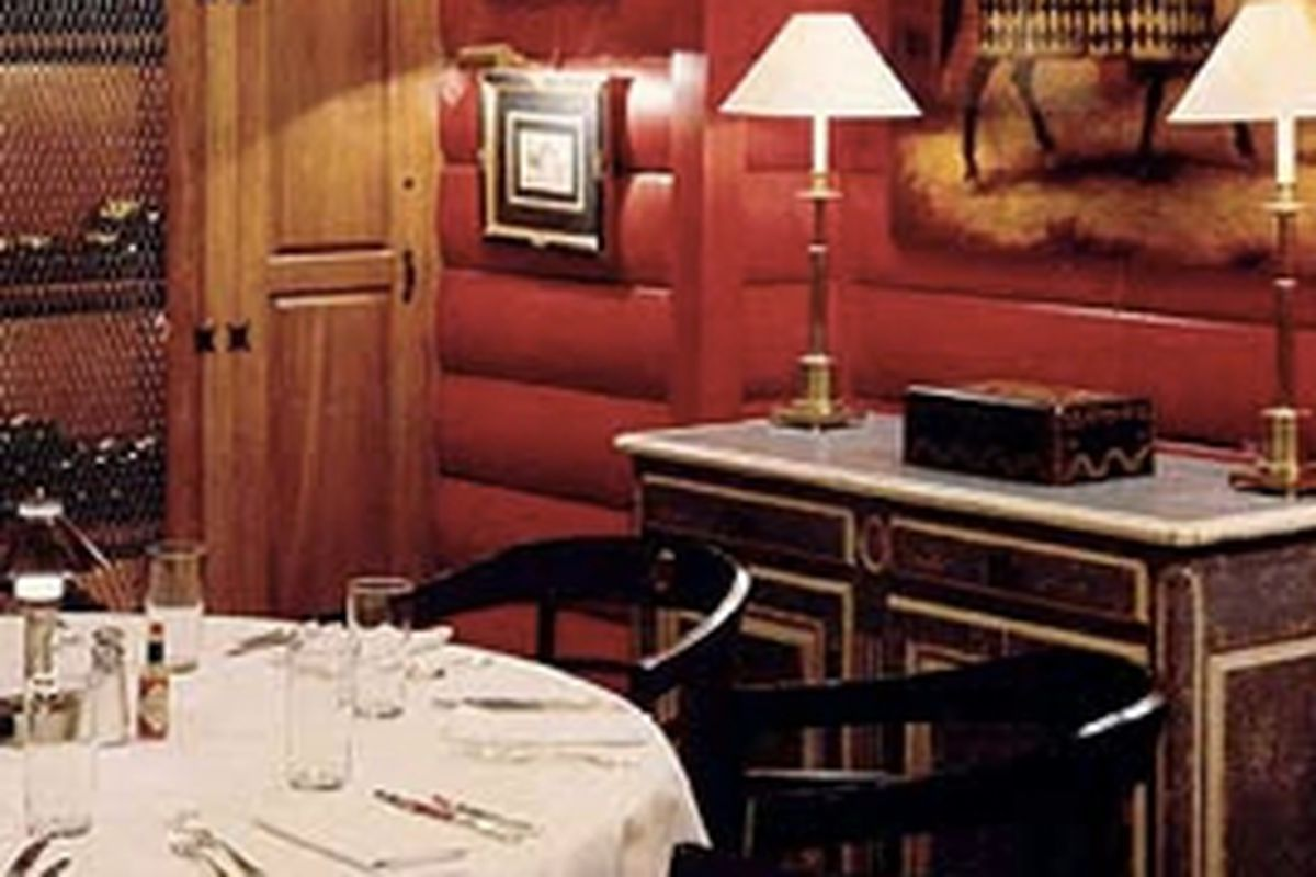 Wine room at Blue Ridge Grill.