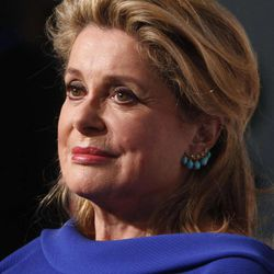 French actress Catherine Deneuve arrives for the Film Society of Lincoln Center's 39th annual Chaplin Award Gala at Alice Tully Hall, Monday, April 2, 2012 in New York.
