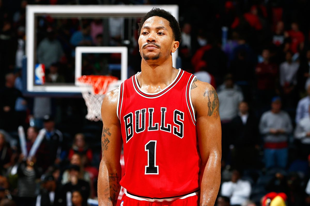 Derrick Rose while playing for Chicago Bulls