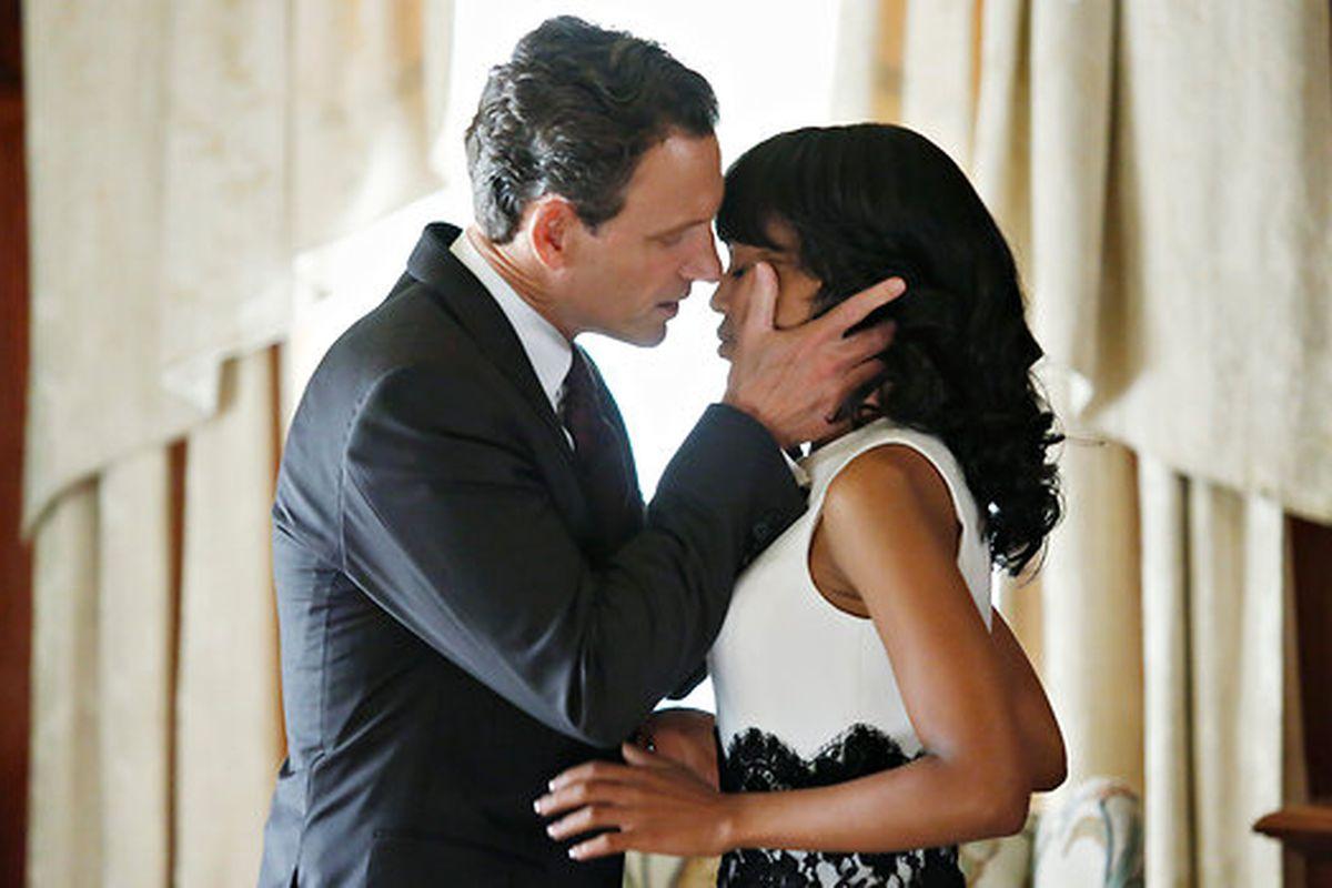 Tony Goldwyn and Kerry Washington in ABC's 'Scandal'