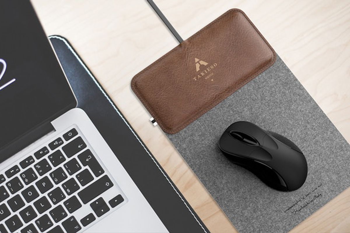 Mousepad Design   This Fancy Wool Fiber Mouse Pad Doubles As A Wireless Charger For