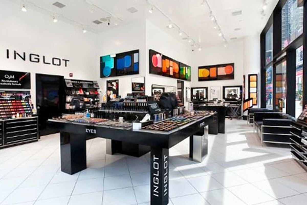 """Oooh, pretty! But the name Inglot sound too much like """"glob"""", a definite cosmetics buzzkill. Image via <a href=""""http://retail.ocregister.com/2010/11/10/3-stores-open-in-oc/38674/"""">OCR</a>"""