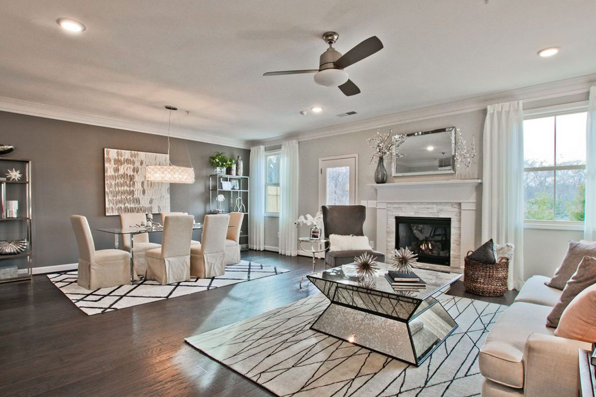 A photo of a sample townhome interior on Canton Road.