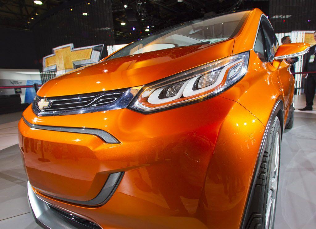 The Chevrolet Bolt EV electric concept vehicle.   AP Photo