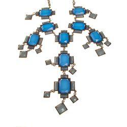 "<b>Bobbles & Lace</b> Silver Backed Blue Hanging Square Necklace, <a href=""http://shop.bobblesandlace.com/WEB-NEC-BLUSQ.html"">$40</a>"