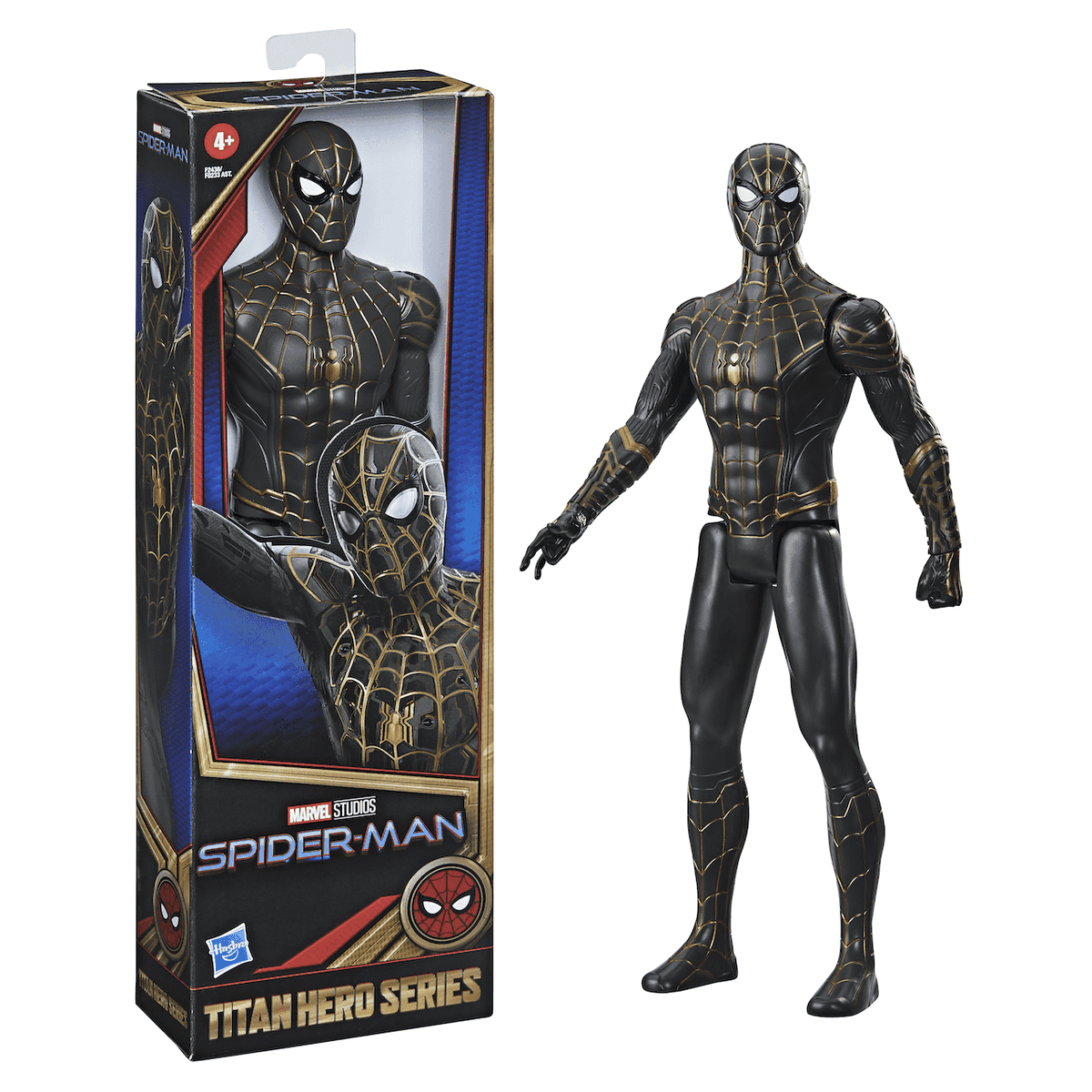 An action figure of Spider-Man from No Way Home
