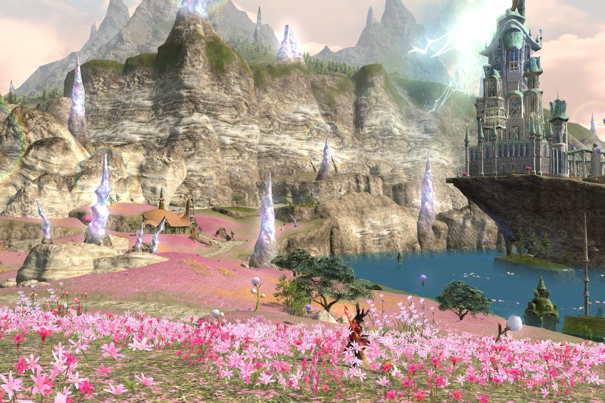 Il Mheg, the flowery domain of the Pixies, in Final Fantasy 14