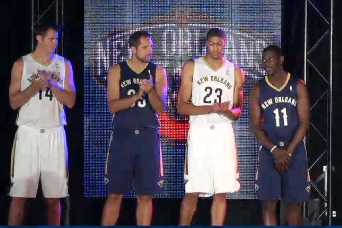 New Orleans Pelicans Unveil New Uniforms Sbnation Com