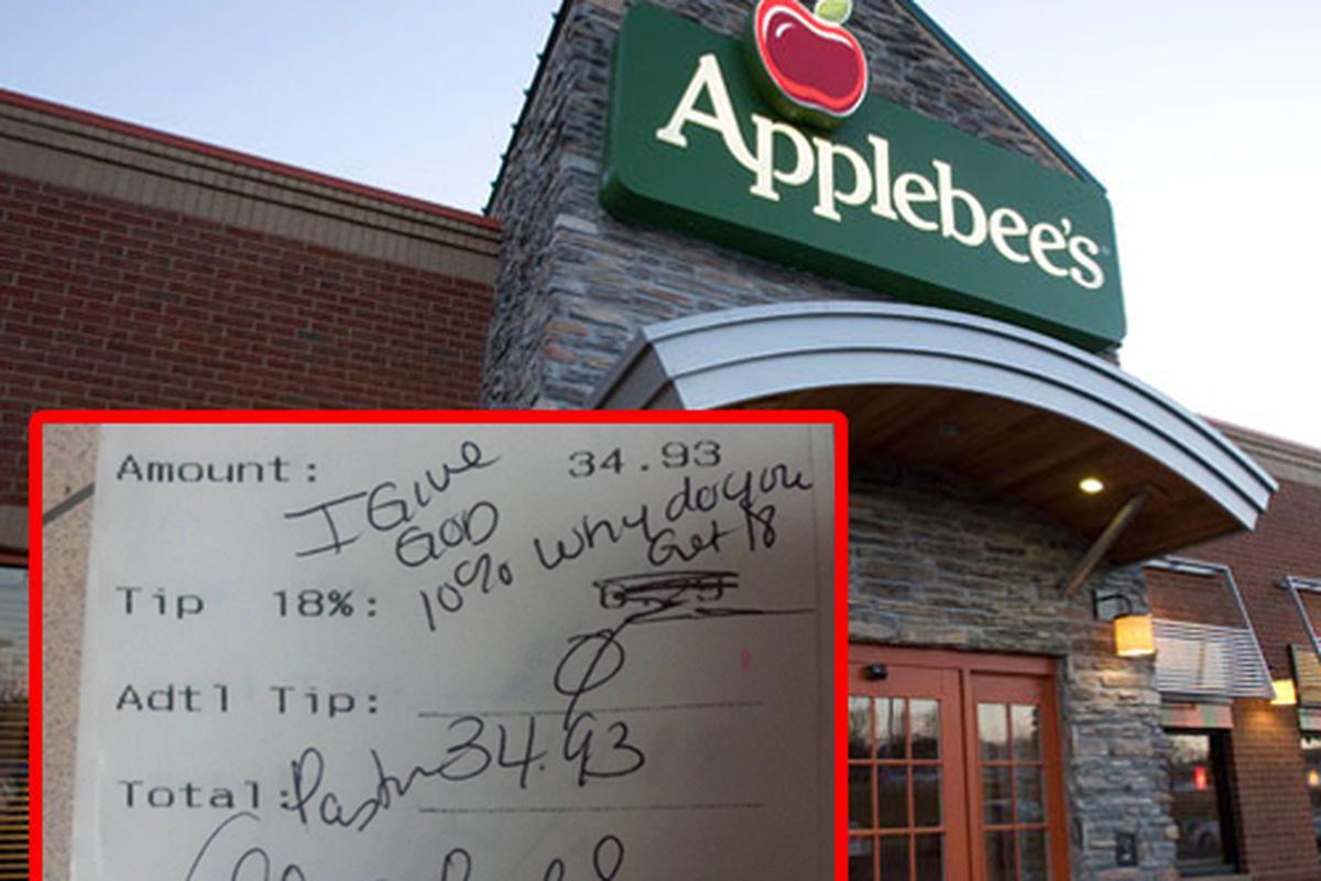 "Applebee's [Photo: <a href=""http://www.applebees.com/carside-to-go"">Applebee's</a>] Receipt"