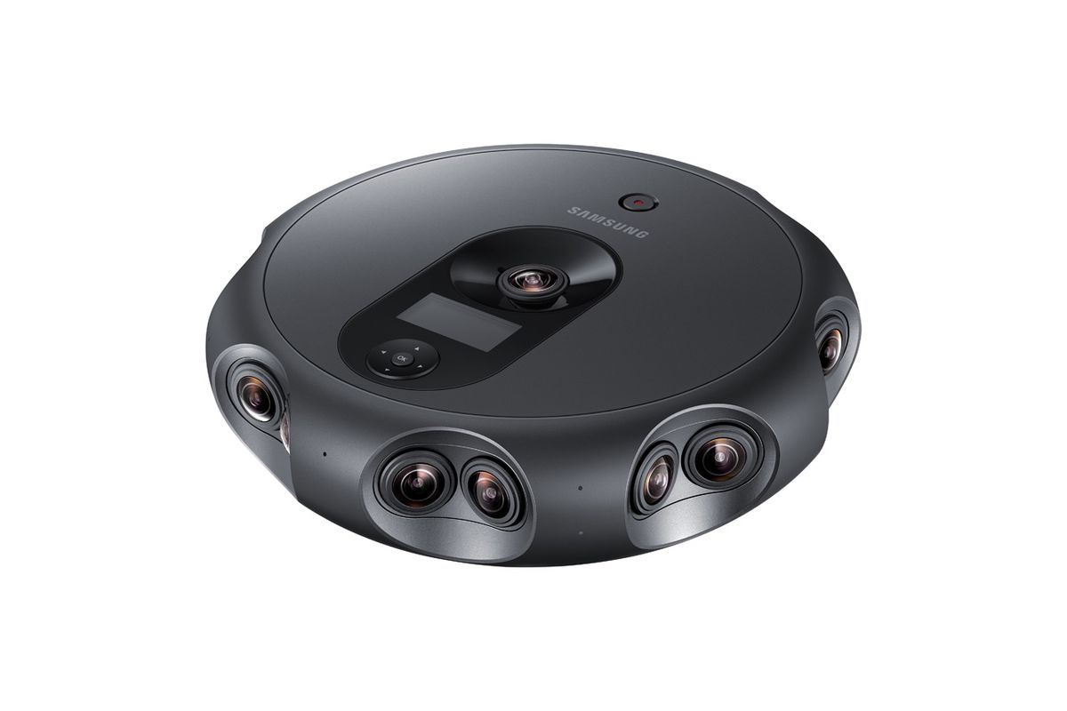Samsung 360 Round VR Camera Livestreams 4K 3D Video