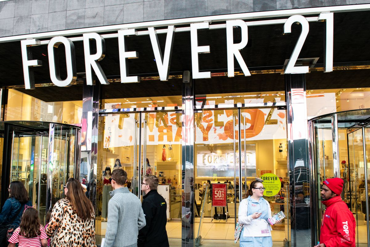 Image result for forever 21 bankruptcy