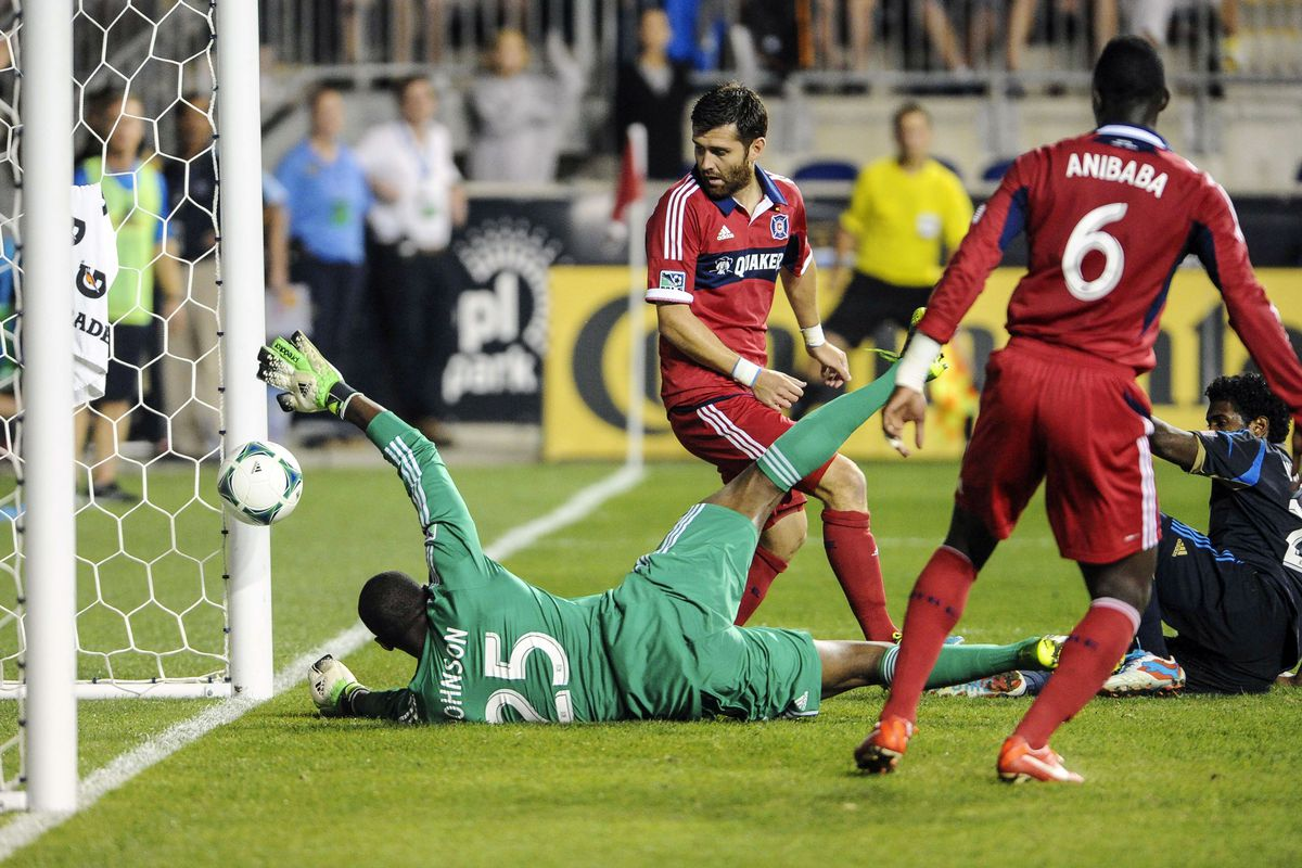As great as Chicago Fire goalie Sean Johnson is, he was no match for the belly goal.