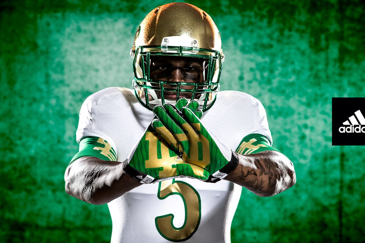 6ebe701d1 2013 Notre Dame Shamrock Series Uniforms Unveiled - One Foot Down