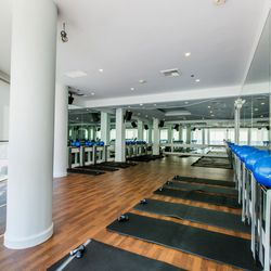 """If you're wondering if FlyBarre will also be coming to Flywheel's <a href=""""http://la.racked.com/archives/2013/04/12/inside_flywheels_swanky_larchmont_studio_plus_their_la_plans.php""""target=""""_blank"""">swanky</a> Larchmont studio, chances are pretty slim. """"Lar"""