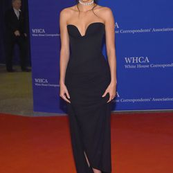 Kendall Jenner wears a Vivienne Westwood gown, Lorraine Schwartz jewels, and Dolce & Gabbana shoes.
