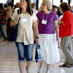 Women attend BYU Women's Conference in the Marriott Center at BYU in Provo on Friday, May 5, 2017.