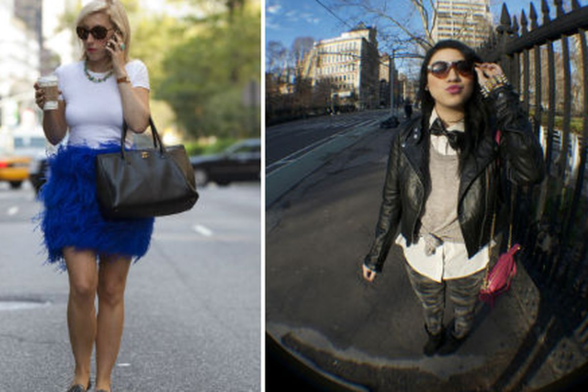 Street style competitors Katie Bartels and Nicole Vardo