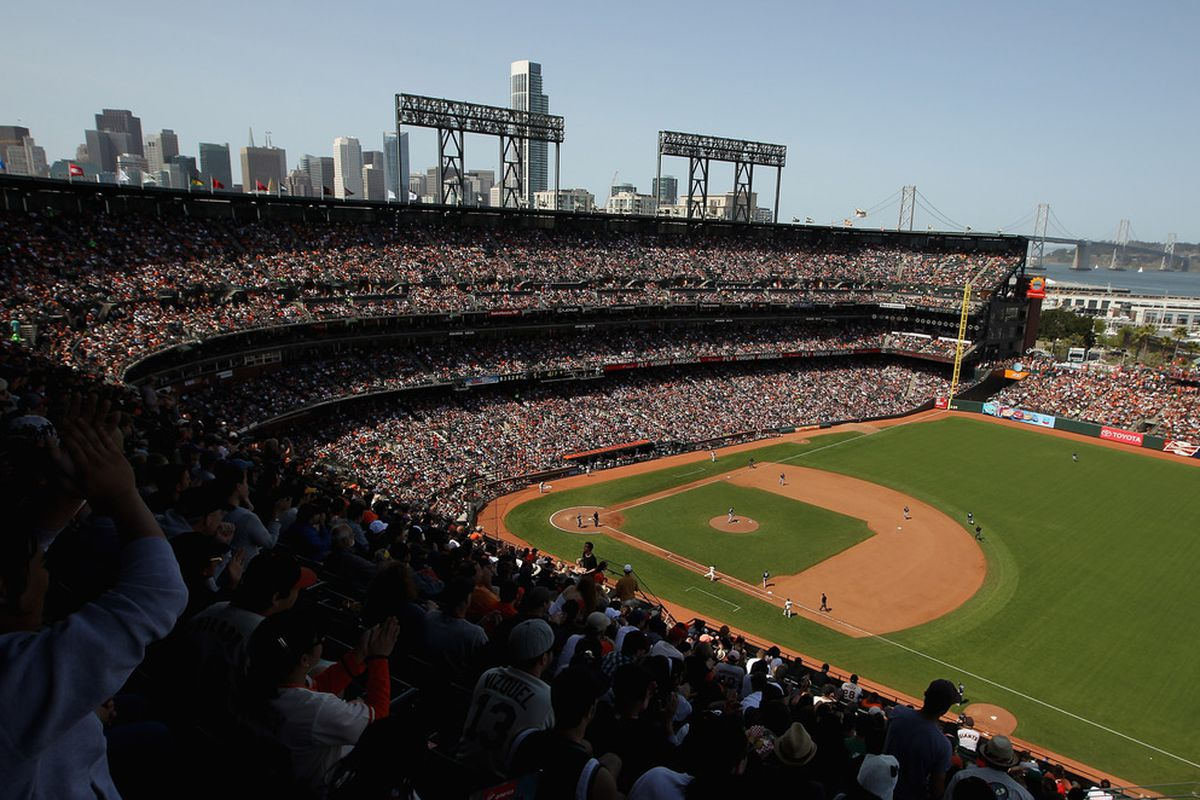 SAN FRANCISCO, CA - APRIL 29:  A general view during the San Francisco Giants game against the San Diego Padres at AT&T Park on April 29, 2012 in San Francisco, California.  (Photo by Ezra Shaw/Getty Images)