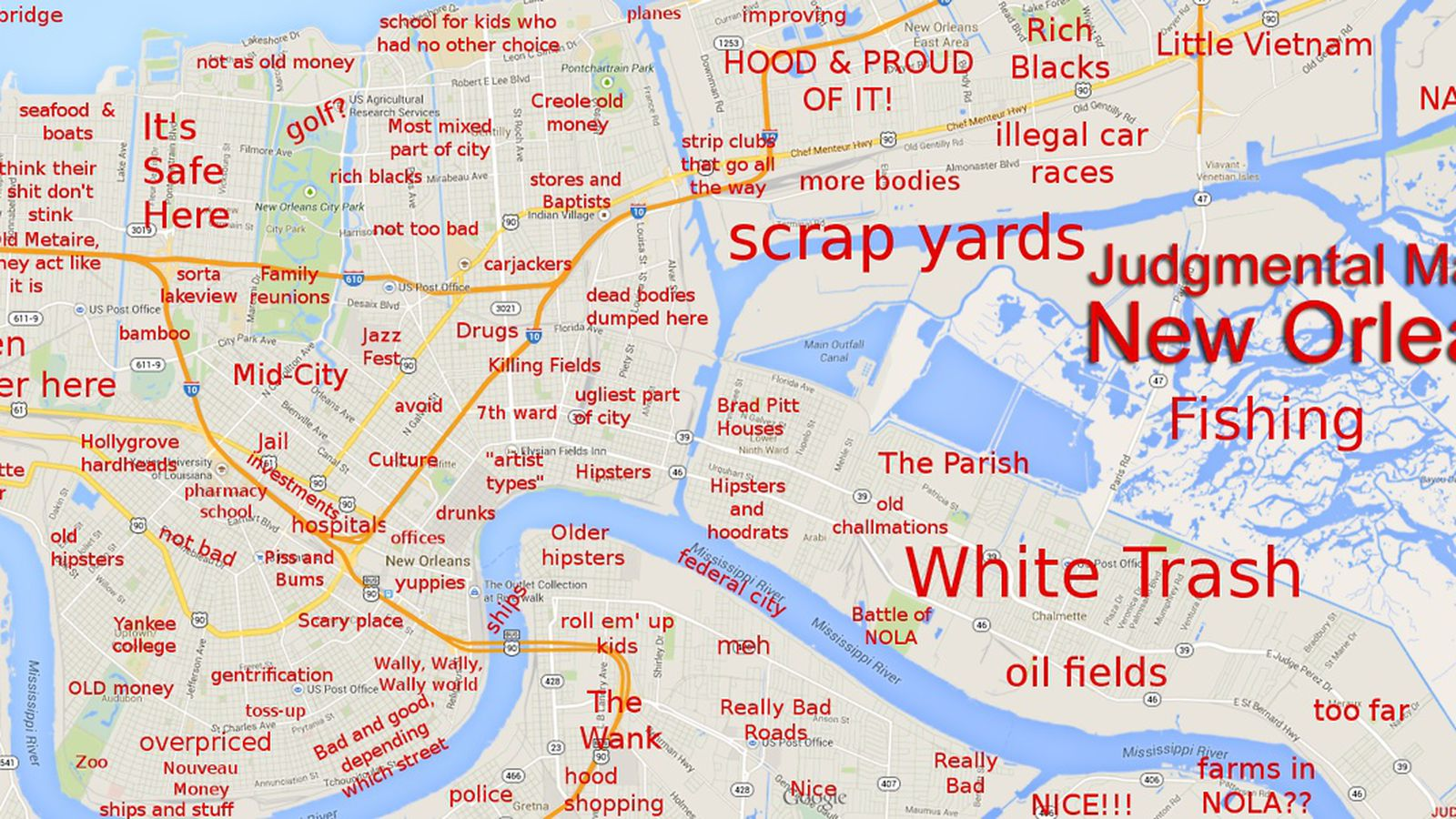 Judgmental Map Of New Orleans Sofab Opening Is Imminent