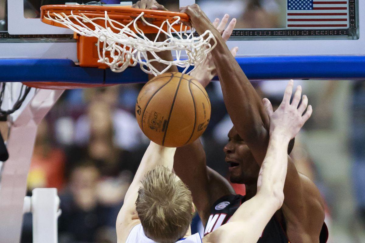 Chris Bosh needs to play aggressively tonight.