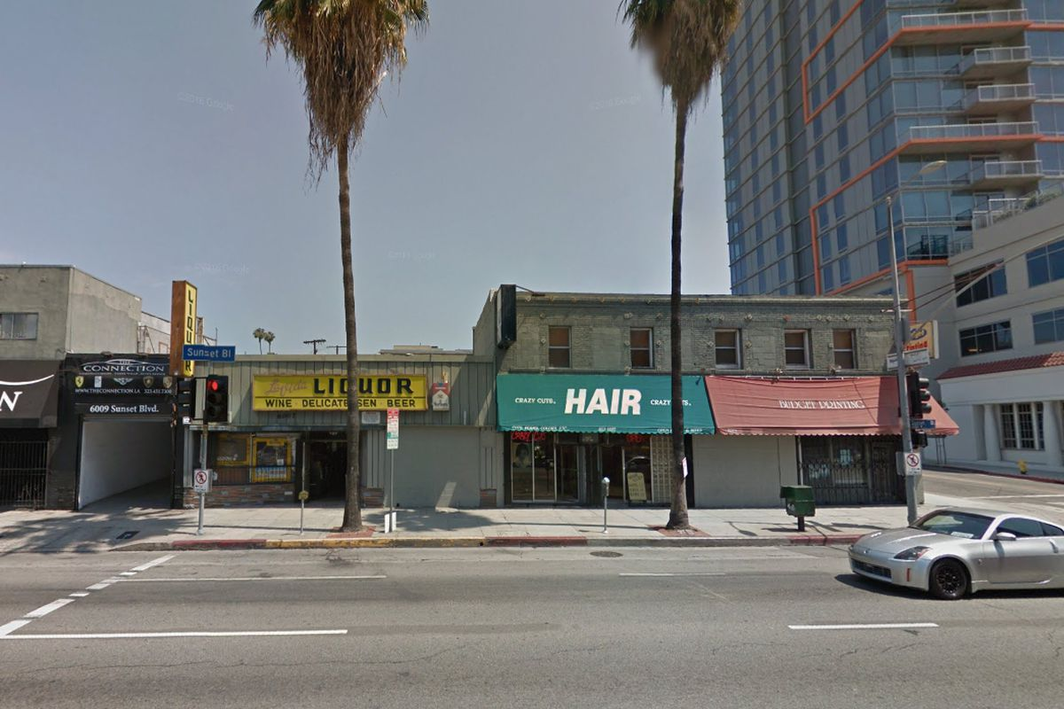 Commercial buildings on Sunset