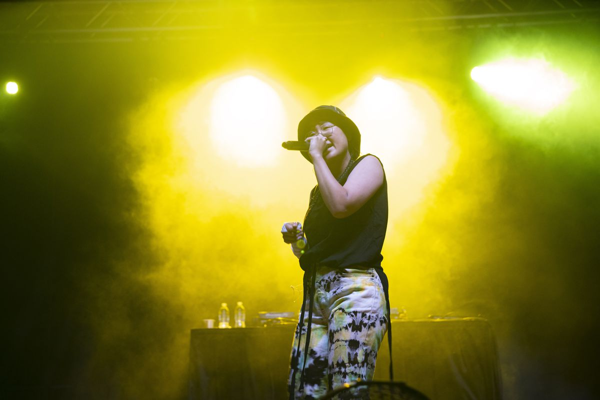 Yaeji performs on Day 1 of the Pitchfork Music Festival, Friday, Sept. 10, 2021.
