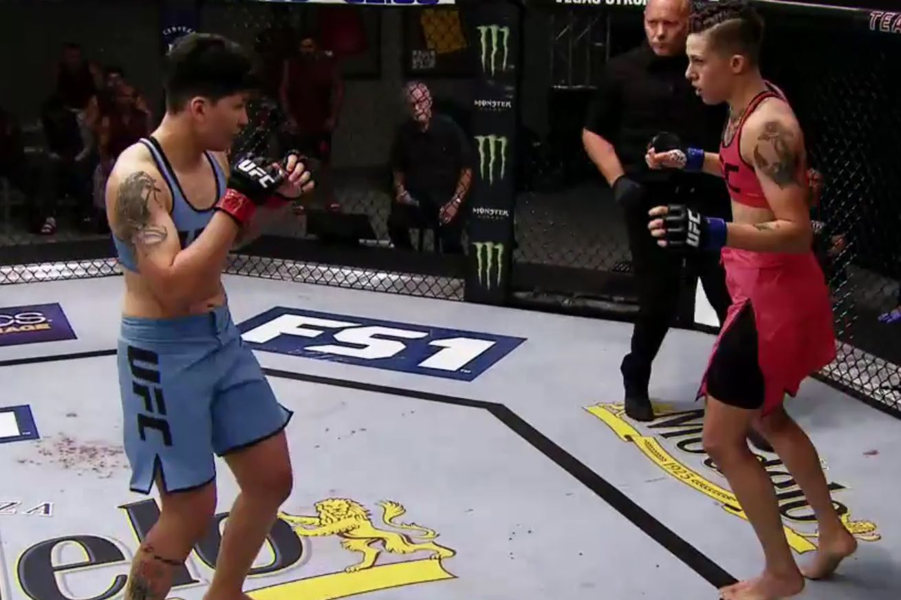 Larissa Pacheco faces off with Macy Chiasson on <em>The Ultimate Fighter 28</em>