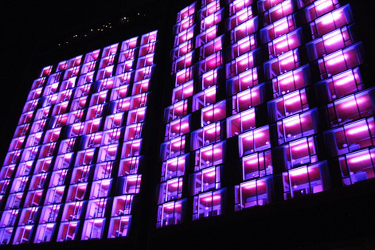"Target turns the Standard purple. Via <a href=""http://www.flickr.com/photos/timschreier/4907486562/in/pool-312691@N20/"">Tim Schreier</a>/Racked Flickr Pool"