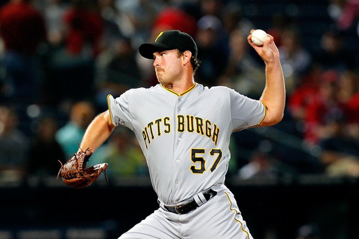 ATLANTA - MAY 28:  Starting pitcher Zach Duke #57 of the Pittsburgh Pirates pitches in the first inning against the Atlanta Braves at Turner Field on May 28, 2010 in Atlanta, Georgia.  (Photo by Kevin C. Cox/Getty Images)