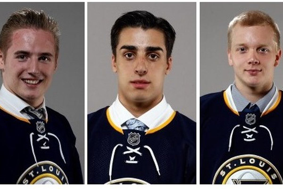 The Blues will have three prospects taking part in the 2015 World Junior Championships.  Original photos by