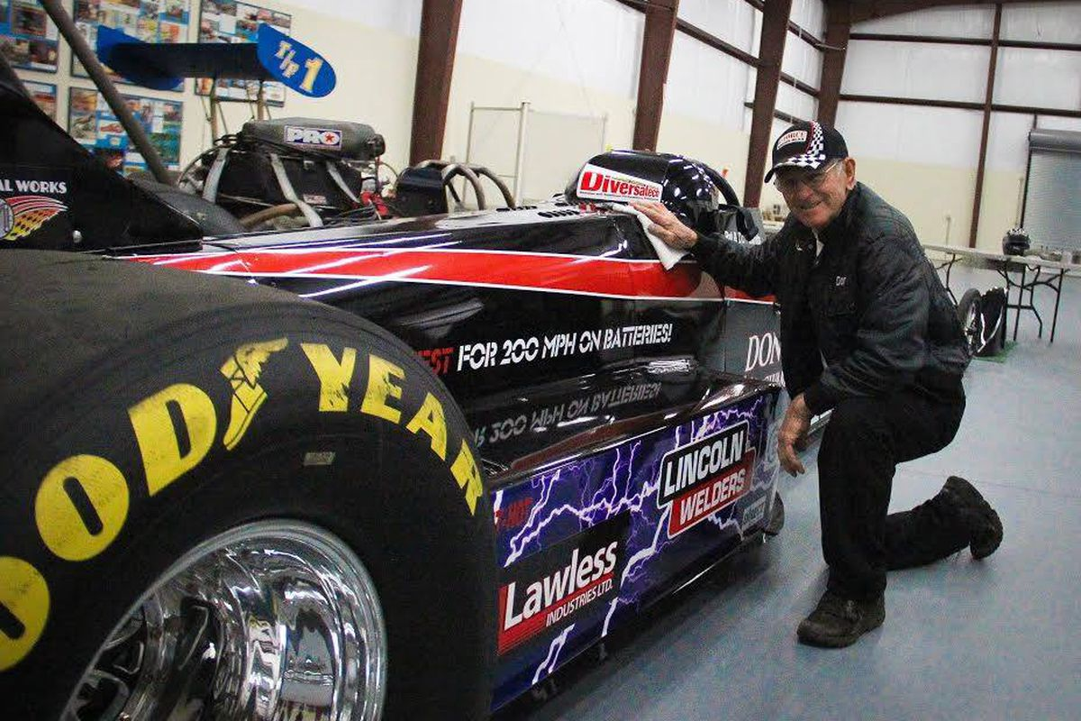 82 Year Old Racing Legend Pushes Electric Dragster To 184mph