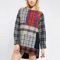 """<b>Rag Union x Urban Renewal</b> Pieced Plaid Dress, <a href=""""http://www.urbanoutfitters.com/urban/catalog/productdetail.jsp?id=28561009&parentid=SEARCH+RESULTS"""">$129</a> at Urban Outfitters"""