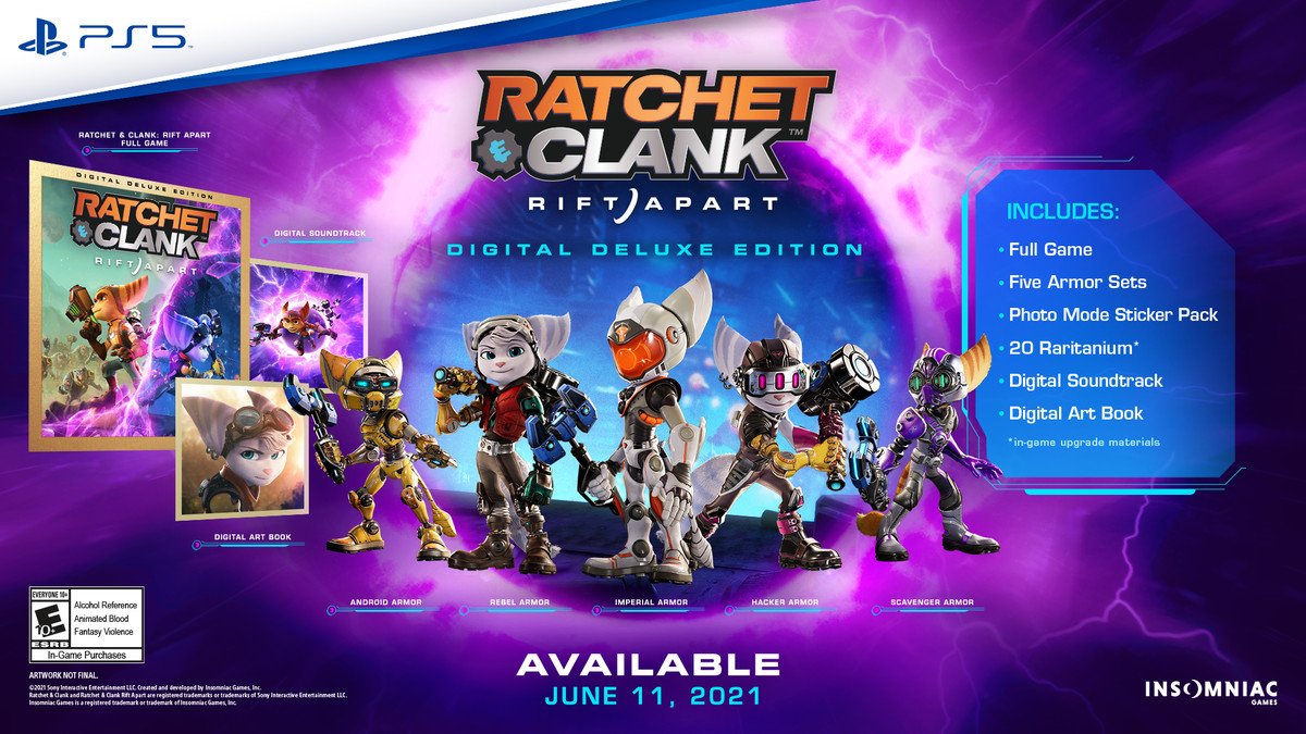 The Digital Deluxe Edition of Ratchet and Clank: Rift Apart
