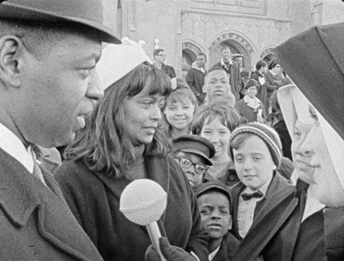 """Church-goers are interviewed in """"Inquiring Nuns,"""" documentary asking Chicagoans """"Are you happy?"""" being showcased next week at the Siskel<br>Film Center to mark the movie's 50th anniversary. 