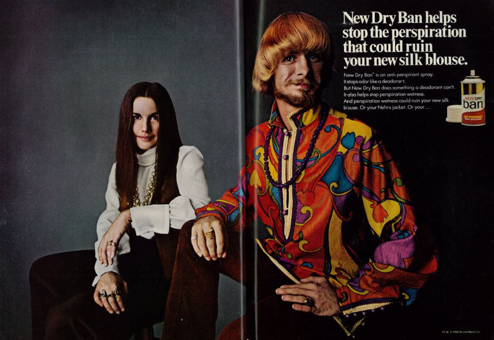 Antiperspirant ad from 1968.